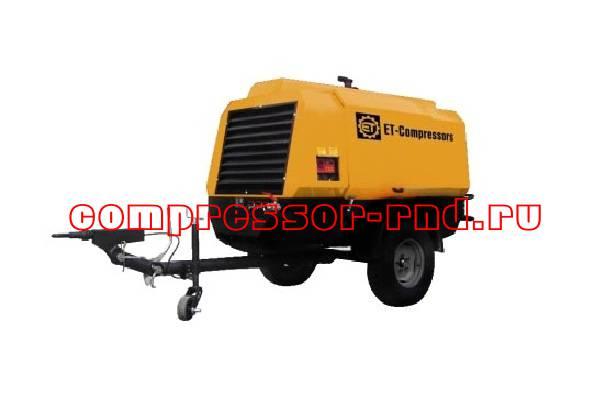 Передвижной дизельный винтовой компрессор Rotair ET RM-120P 7 BR LI A