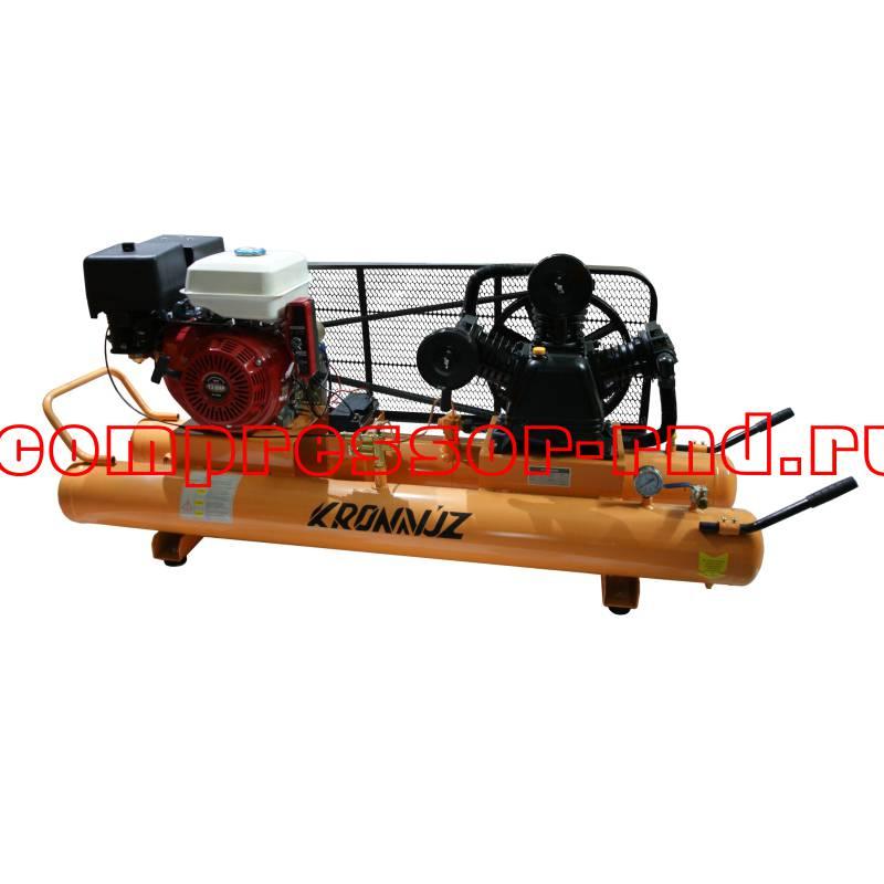 Поршневой компрессор KronVuz Air E30 с приводом от бензинового двигателя